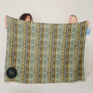 southwestern ethnic navajo tribal pattern fleece blanket