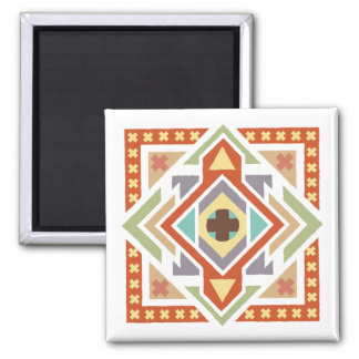 Southwestern Geometric Ethnic Pattern Square Magnet