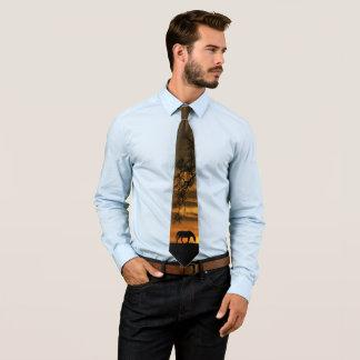 Southwestern Horse and Oak Tree Tie