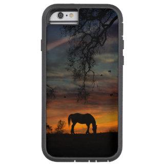 Southwestern Horse in Sunset Tough Phone Case