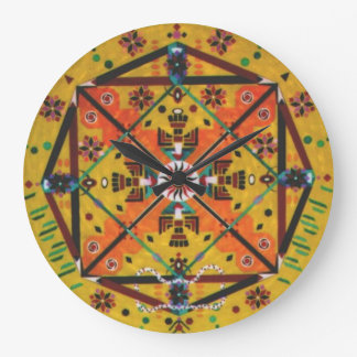 SOUTHWESTERN LARGE ROUND WALL CLOCK