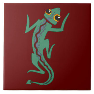 Southwestern Lizard Decorative Accent Tile