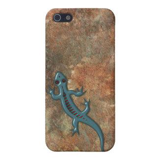 Southwestern Lizard on Red Rock Stone iPhone 5/5S Case