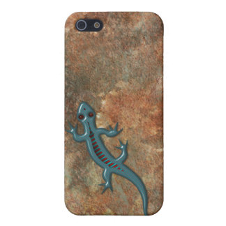 Southwestern Lizard on Red Rock Stone iPhone 5 Cover