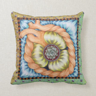 Southwestern Lotus in the Heart Pillow