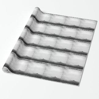 Southwestern Mountain Photograph Black White Wrapping Paper