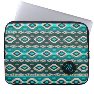 Southwestern navajo ethnic tribal pattern. laptop sleeve
