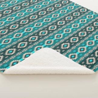 Southwestern navajo ethnic tribal pattern. sherpa blanket