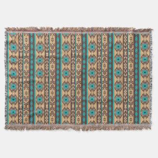 Southwestern navajo ethnic tribal pattern. throw blanket