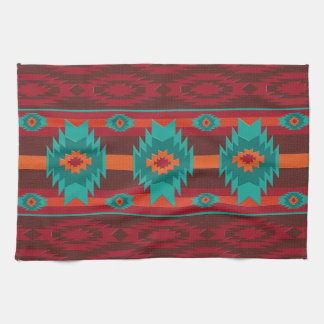 Southwestern navajo geometric pattern. kitchen towel