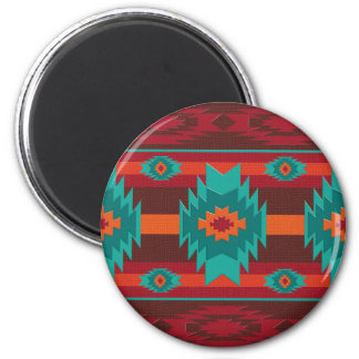 Southwestern navajo geometric pattern. magnet