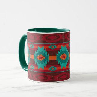 Southwestern navajo tribal geometric pattern. mug