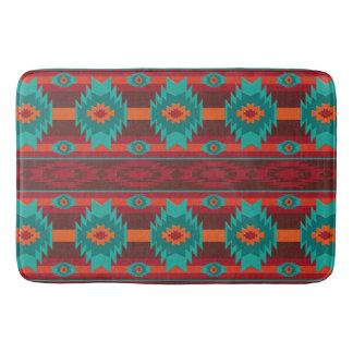 Southwestern navajo tribal pattern bath mat