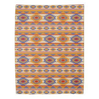 Southwestern navajo tribal pattern duvet cover