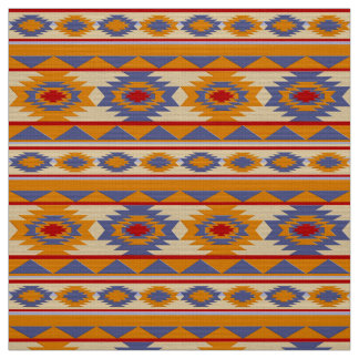 Southwestern navajo tribal pattern fabric