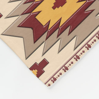 Southwestern navajo tribal pattern fleece blanket