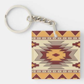 Southwestern navajo tribal pattern. keychain