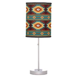 Southwestern navajo tribal pattern table lamp