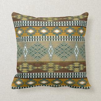 Southwestern navajo tribal pattern throw pillow