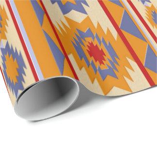 Southwestern navajo tribal pattern wrapping paper