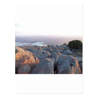 Southwestern Oklahoma Mountain Scenery of Mt Scott Postcard