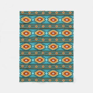southwestern pattern fleece blanket