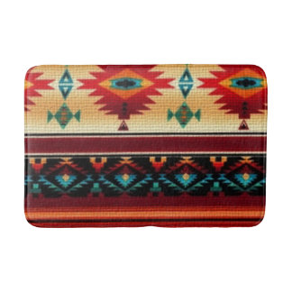 Southwestern pattern fun medium bathmat