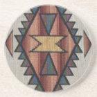 Southwestern Pattern Sandstone Drink Coaster