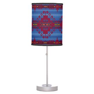 Southwestern pattern table lamp