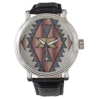 Southwestern pattern womens vintage style watch