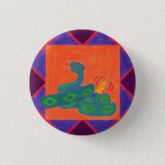 Southwestern Rattle-Snake 1 Inch Round Button
