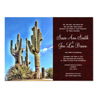 Southwestern Saguaro Cactus Wedding Invitations
