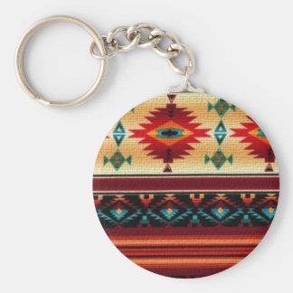 Southwestern style pattern fun keychain