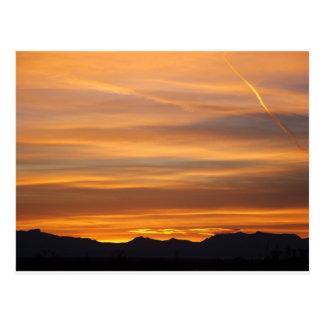 southwestern sunset postcard