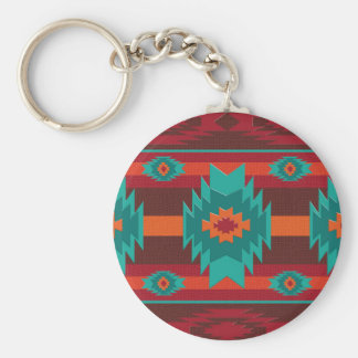 Southwestrn navajo geometric pattern. keychain