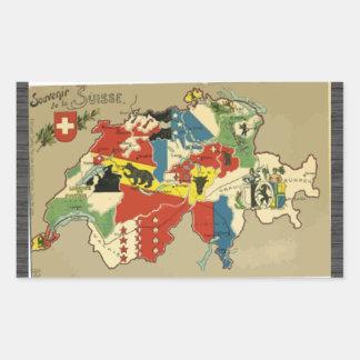 Souvenir De La Suisse, Vintage Sticker