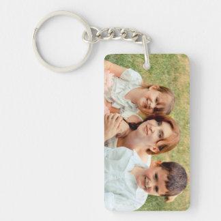 Souvenir de photo de famille porte-clé  rectangulaire en acrylique une face