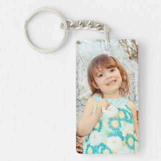 Souvenir de photo d'enfant porte-clé  rectangulaire en acrylique une face