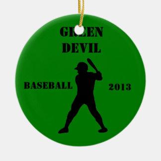 Souvenir d'équipe de baseball ornement rond en céramique