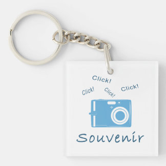 Souvenir Double-Sided Square Acrylic Keychain
