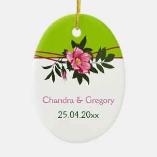 Souvenir floral de vert de chaux de mariage de ros décoration de noël