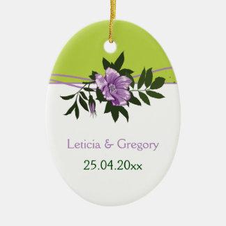 Souvenir floral de vert de mariage de rose sauvage décorations pour sapins de noël