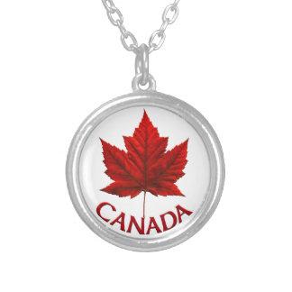 Souvenir Necklac de feuille d'érable du Canada de  Pendentif Rond
