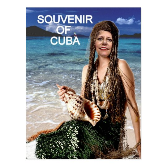 SOUVENIR OF CUBA MERMAID POSTCARD