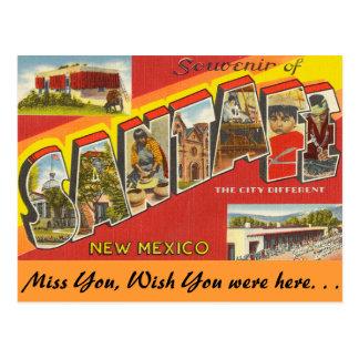 Souvenir of Santa Fe Postcard