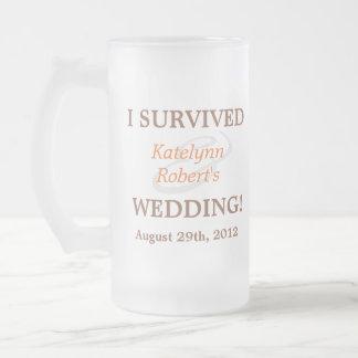 Souvenir Romance orange de mariage Mug En Verre Givré