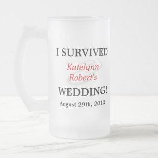 Souvenir Romance rouge de mariage Mug En Verre Givré