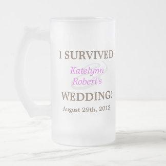 Souvenir Romance violet de mariage Mug En Verre Givré