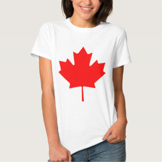 Souvenir rouge de feuille d'érable du Canada Tshirt