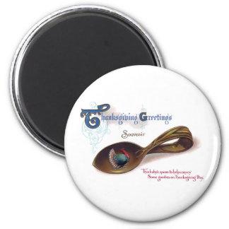 Souvenir Thanksgiving Baby Spoon Fridge Magnets